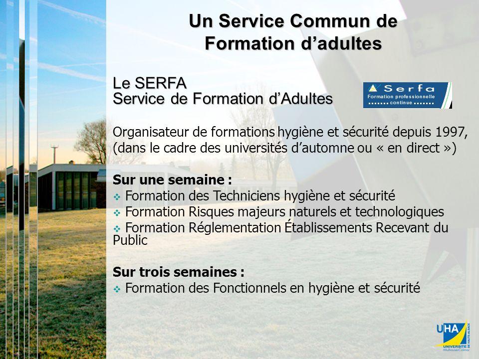 Les Services Communs Un Service Commun de Formation d'adultes