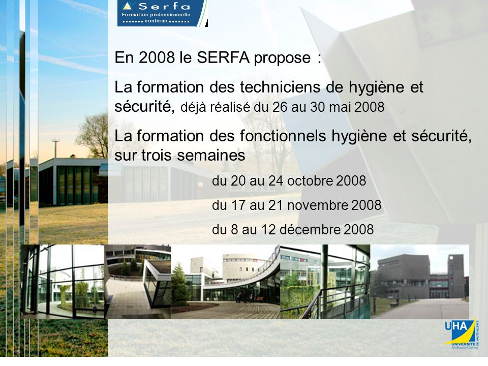 La formation des fonctionnels hygiène et sécurité, sur trois semaines