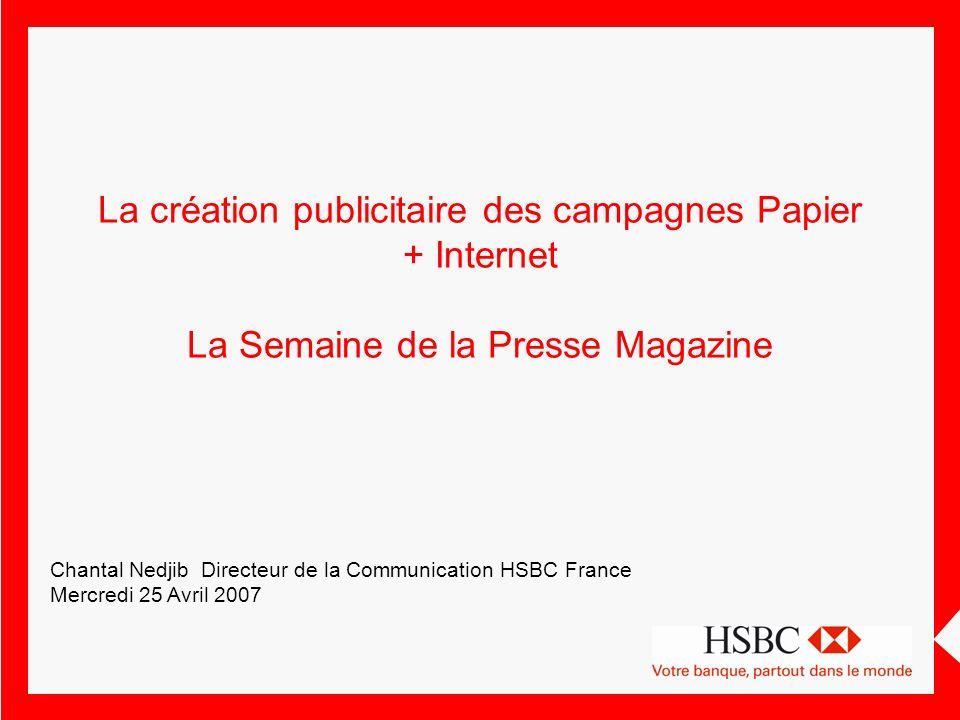 La création publicitaire des campagnes Papier + Internet La Semaine de la Presse Magazine