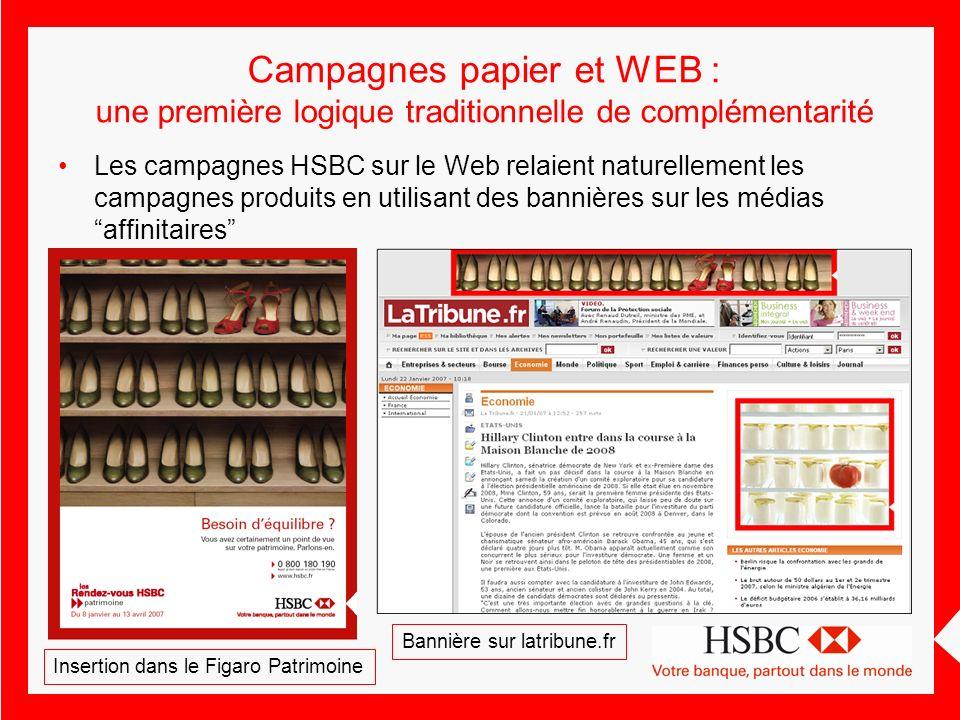 Campagnes papier et WEB : une première logique traditionnelle de complémentarité