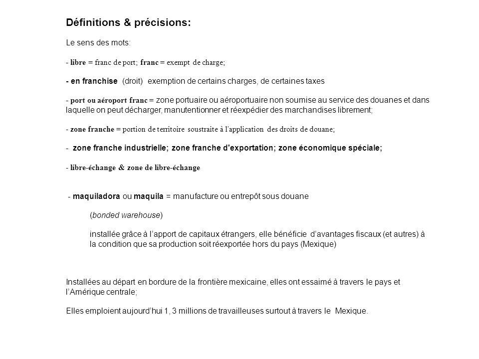 Définitions & précisions:
