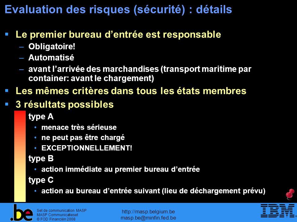 Evaluation des risques (sécurité) : détails
