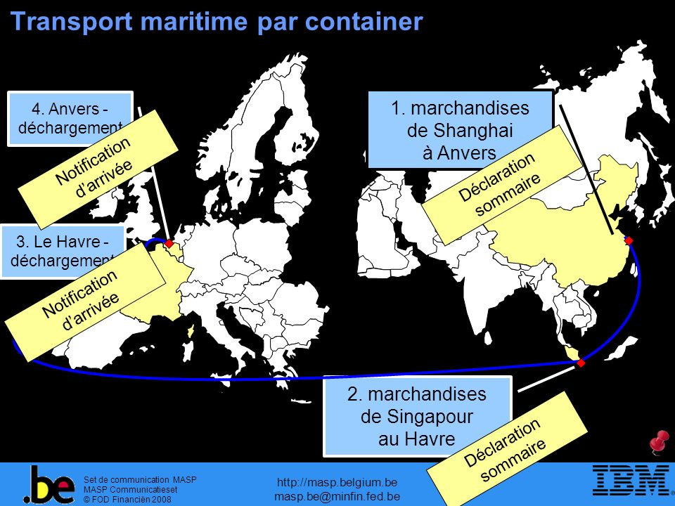 Transport maritime par container