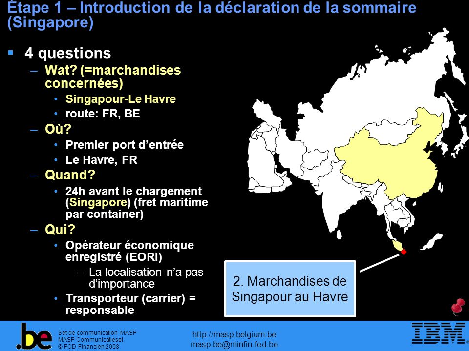 Étape 1 – Introduction de la déclaration de la sommaire (Singapore)