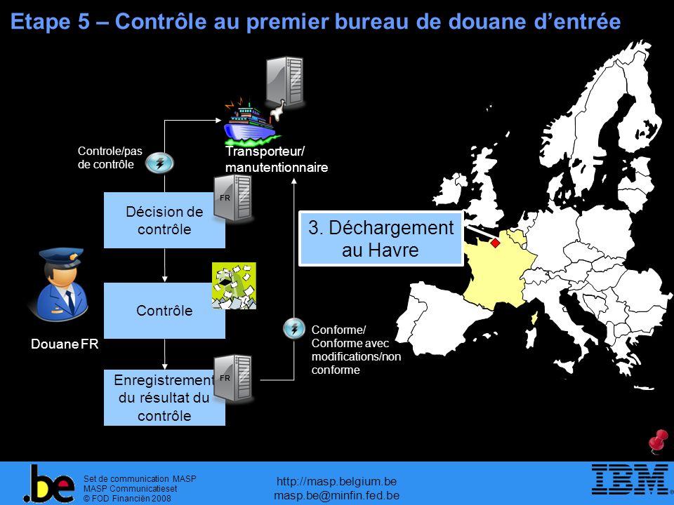 Etape 5 – Contrôle au premier bureau de douane d'entrée