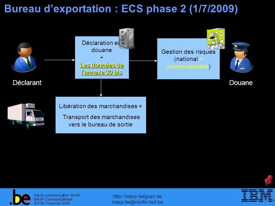 Bureau d'exportation : ECS phase 2 (1/7/2009)