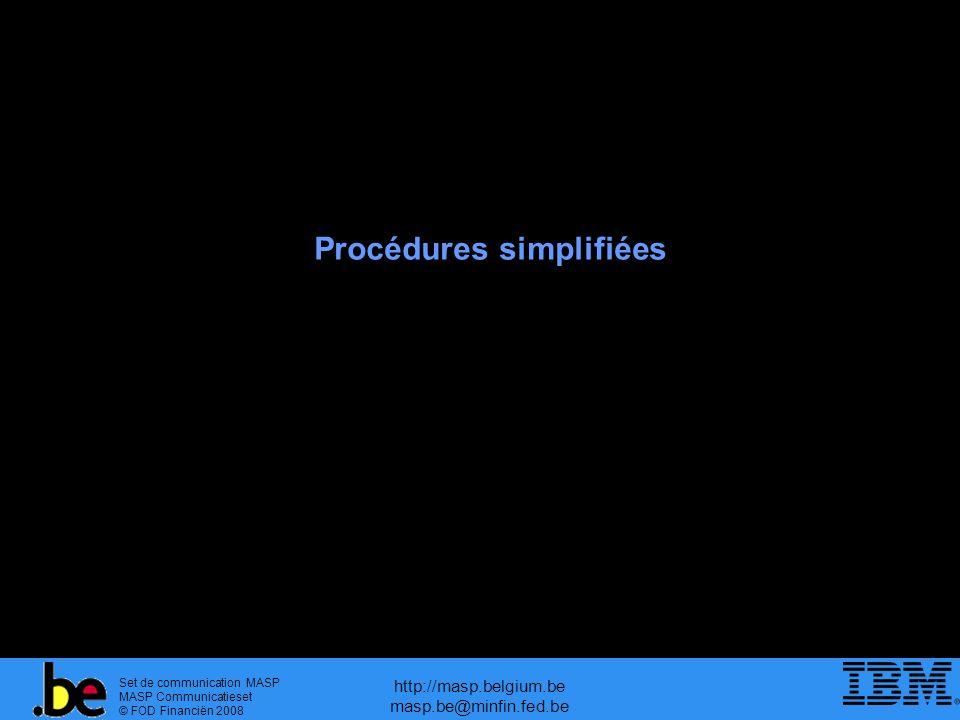 Procédures simplifiées