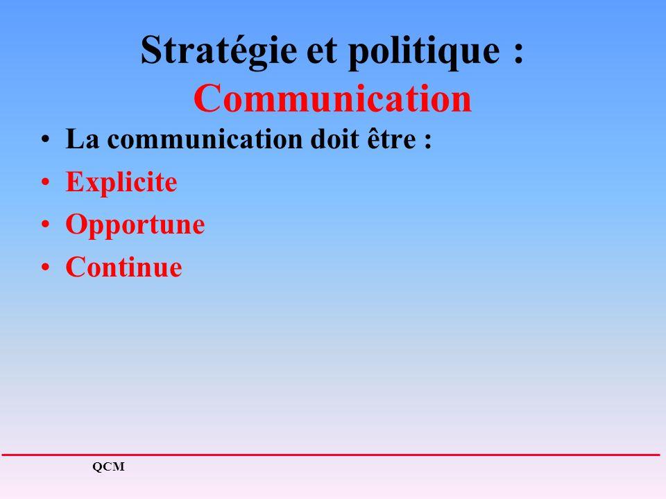 Stratégie et politique : Communication