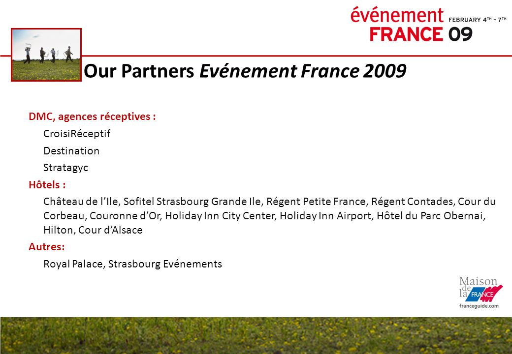 Our Partners Evénement France 2009