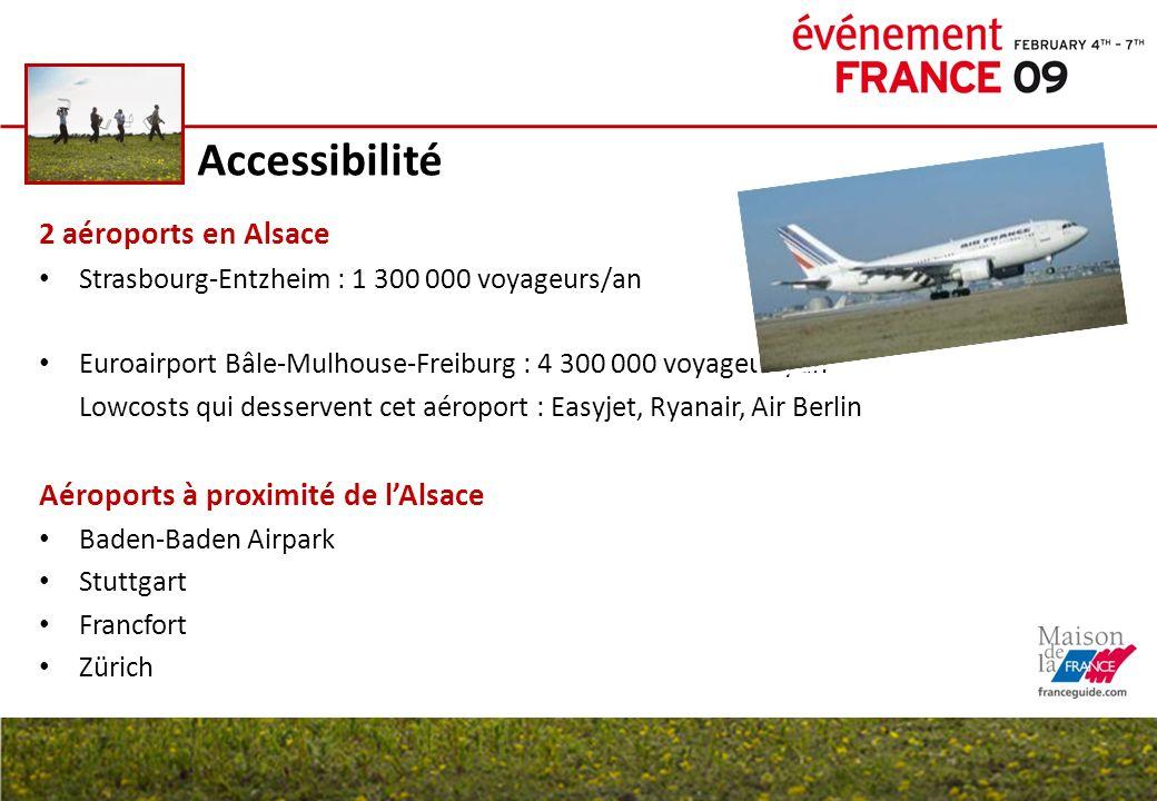 Accessibilité 2 aéroports en Alsace Aéroports à proximité de l'Alsace