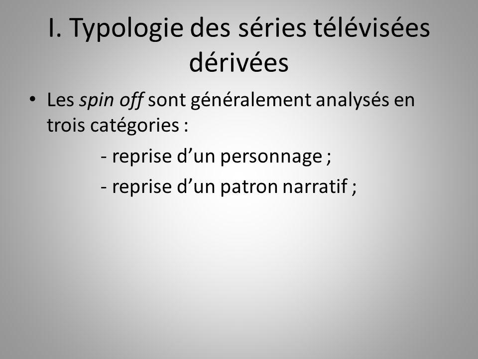 I. Typologie des séries télévisées dérivées