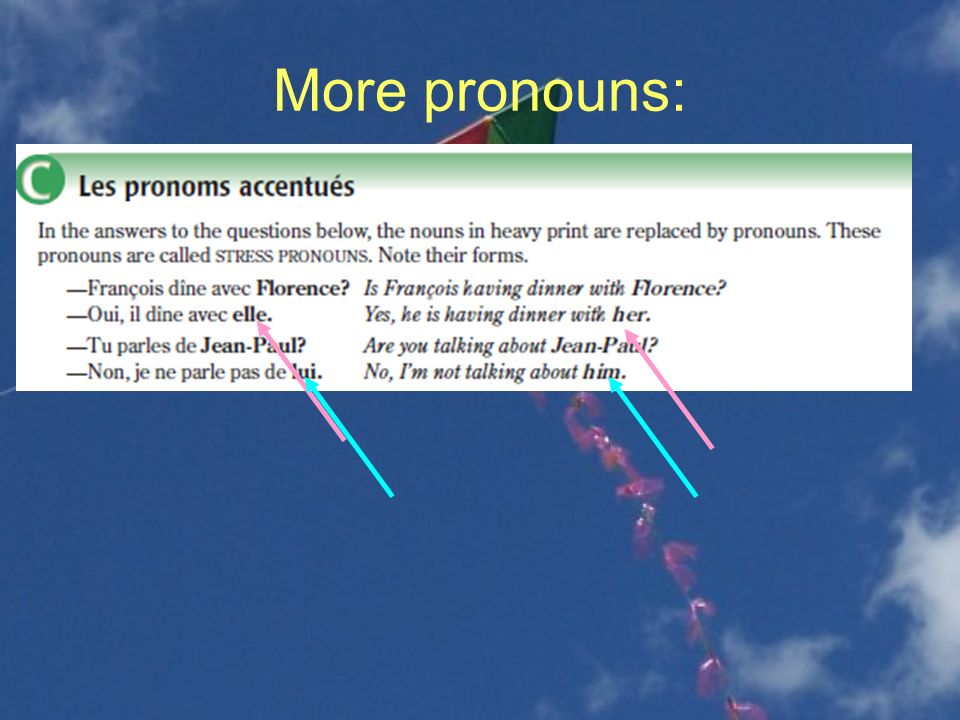 More pronouns: