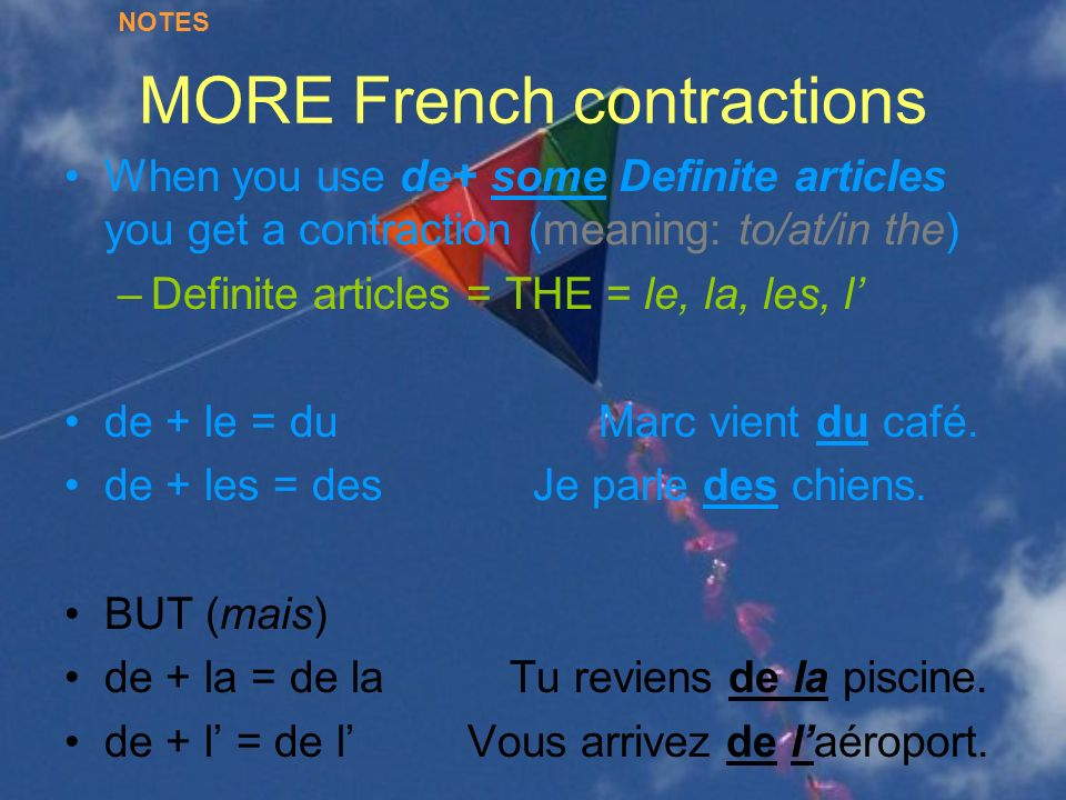 MORE French contractions