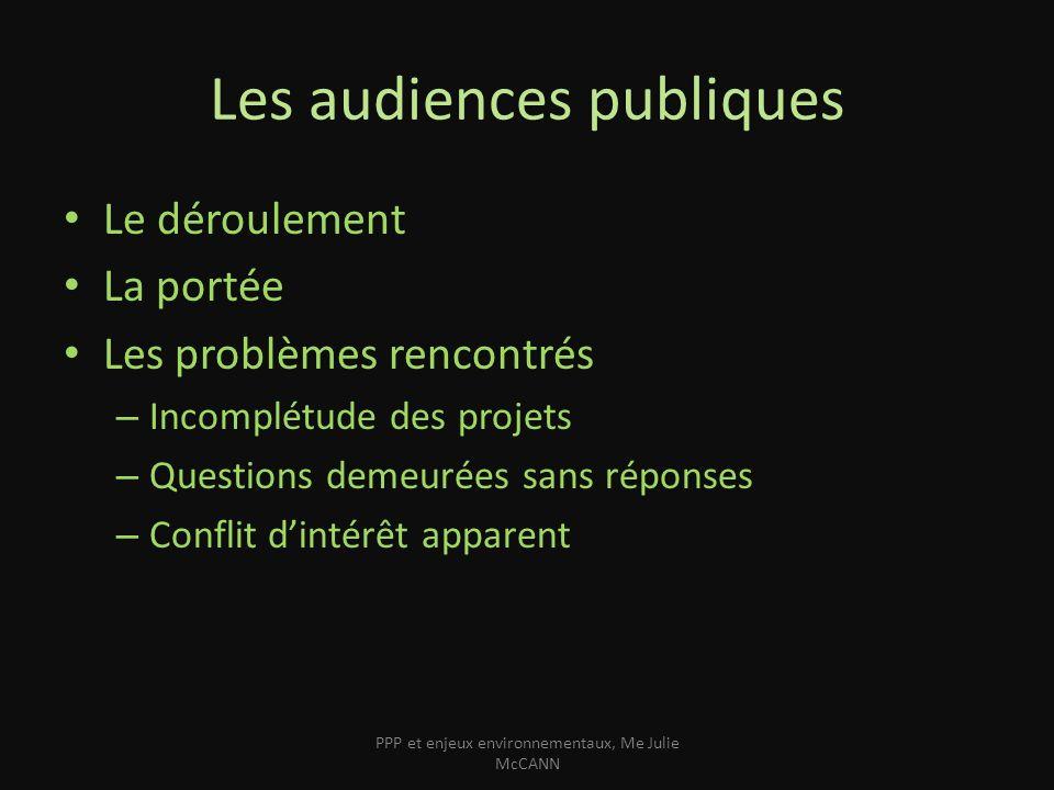 Les audiences publiques