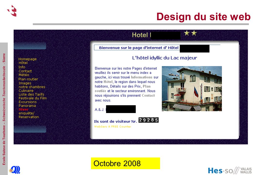 Design du site web Octobre Octobre Octobre Octobre 2008