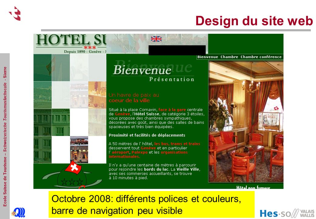 Design du site web Octobre.