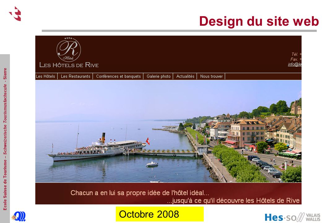 Design du site web Octobre 2008