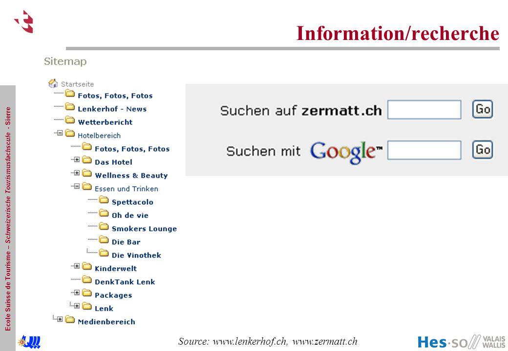 Information/recherche