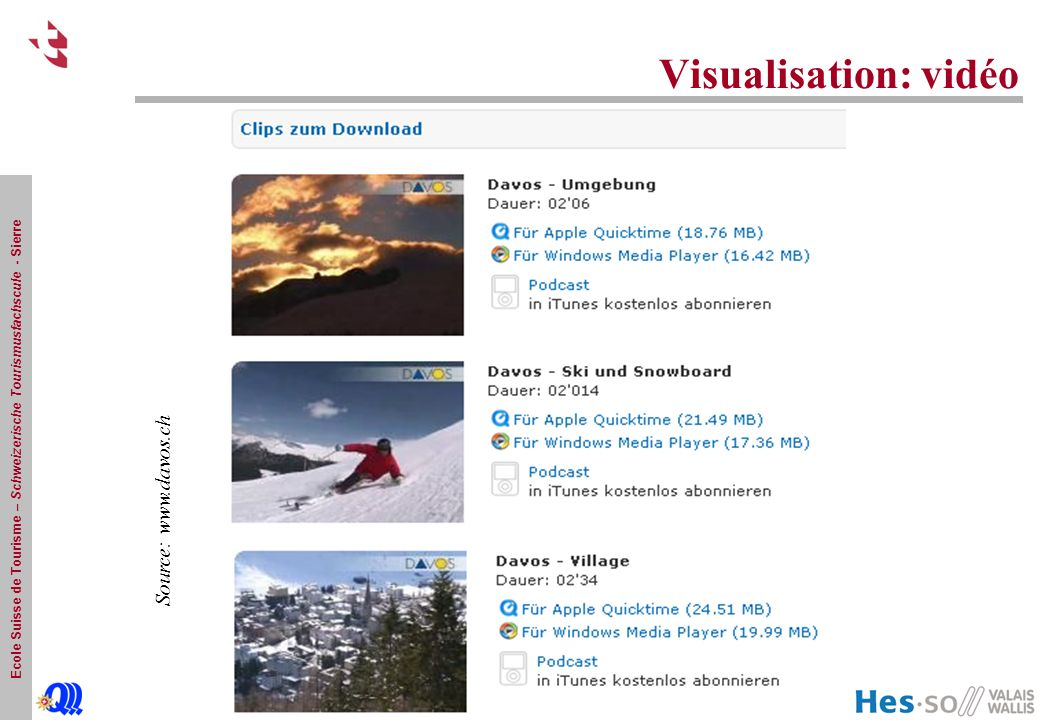 Visualisation: vidéo Source: www.davos.ch