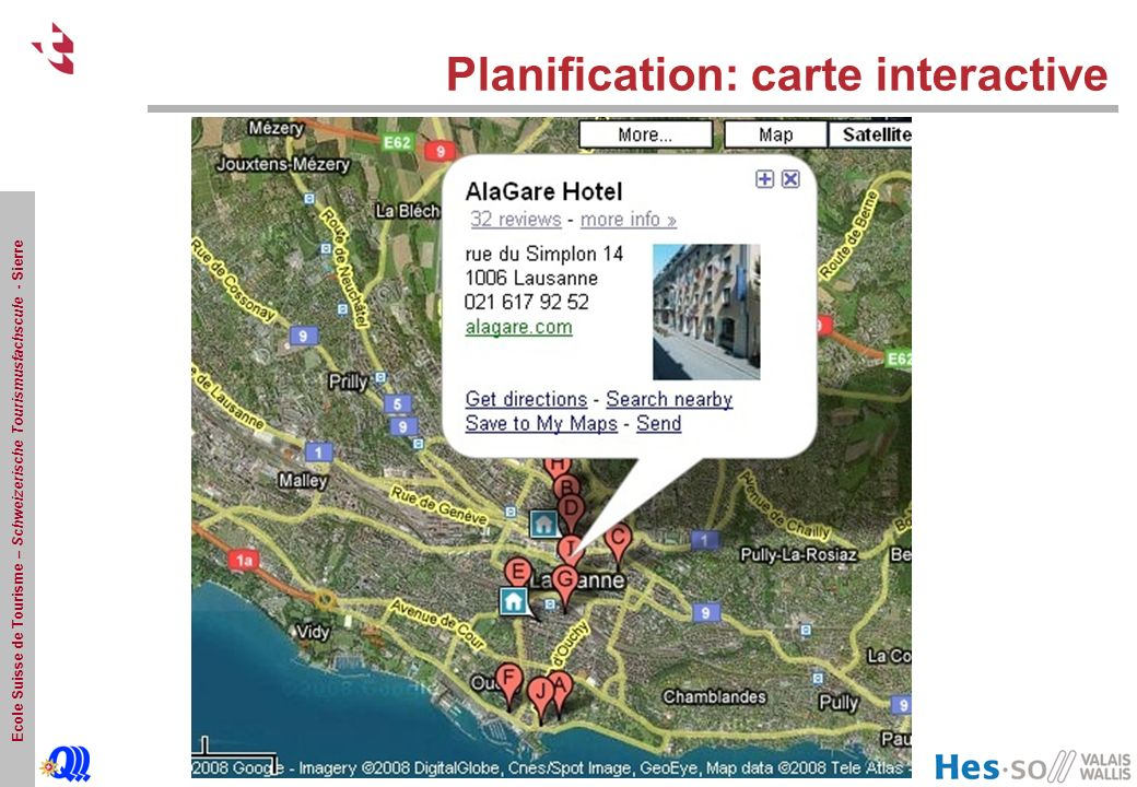 Planification: carte interactive