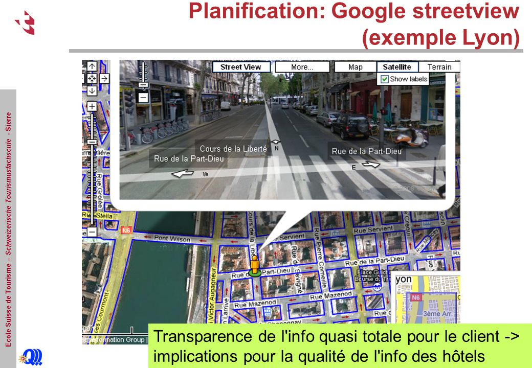 Planification: Google streetview (exemple Lyon)