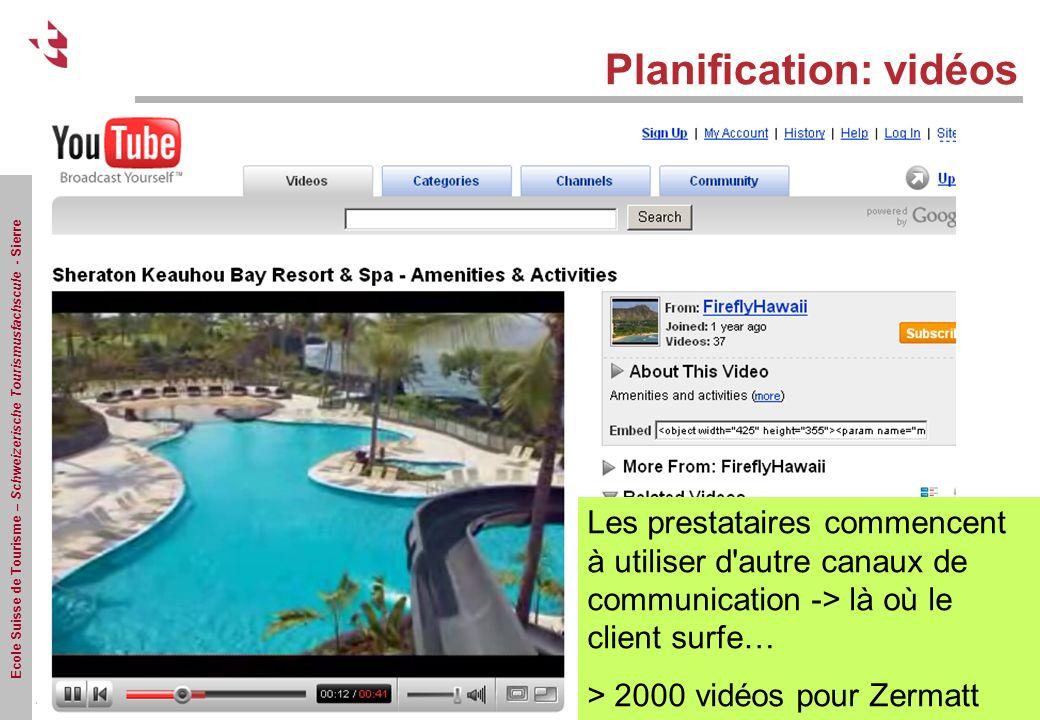 Planification: vidéos