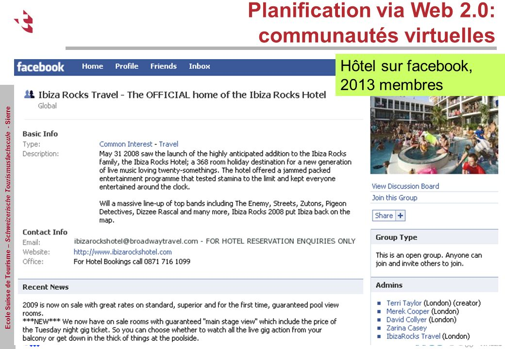 Planification via Web 2.0: communautés virtuelles