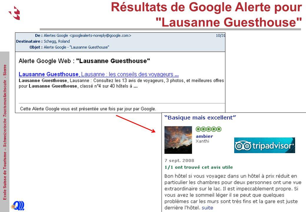 Résultats de Google Alerte pour Lausanne Guesthouse