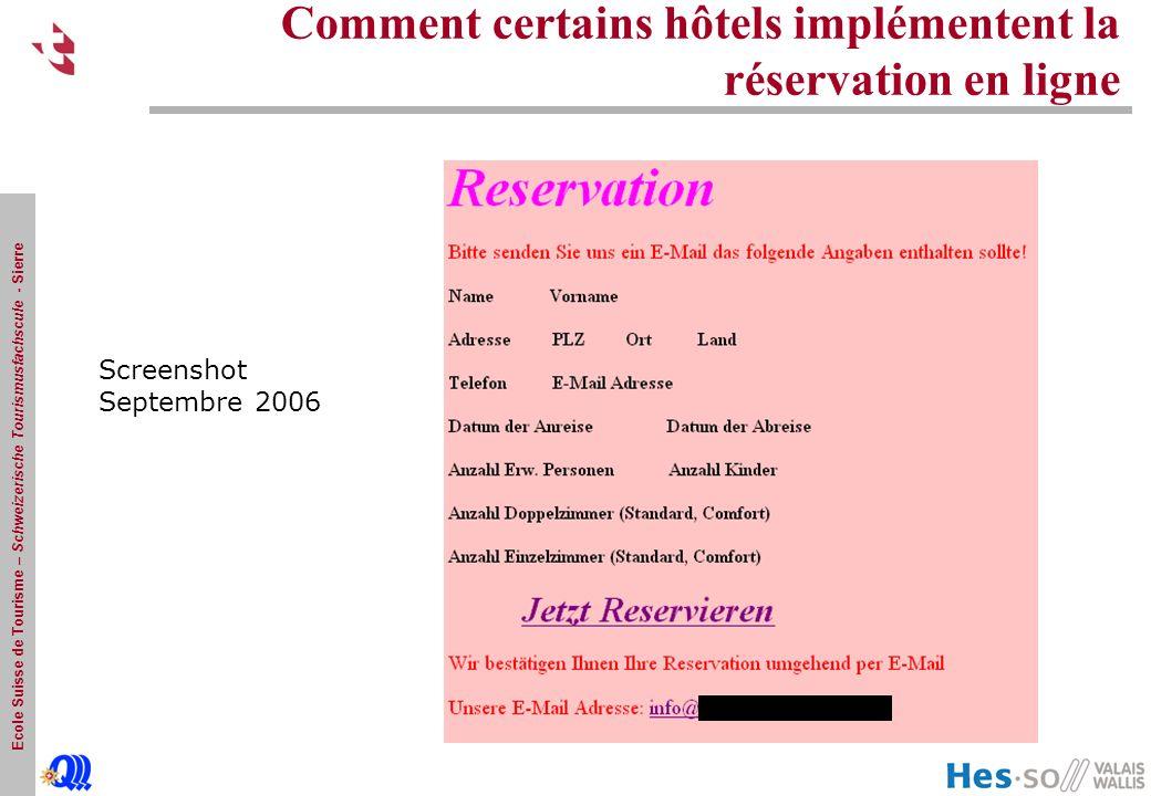 Comment certains hôtels implémentent la réservation en ligne