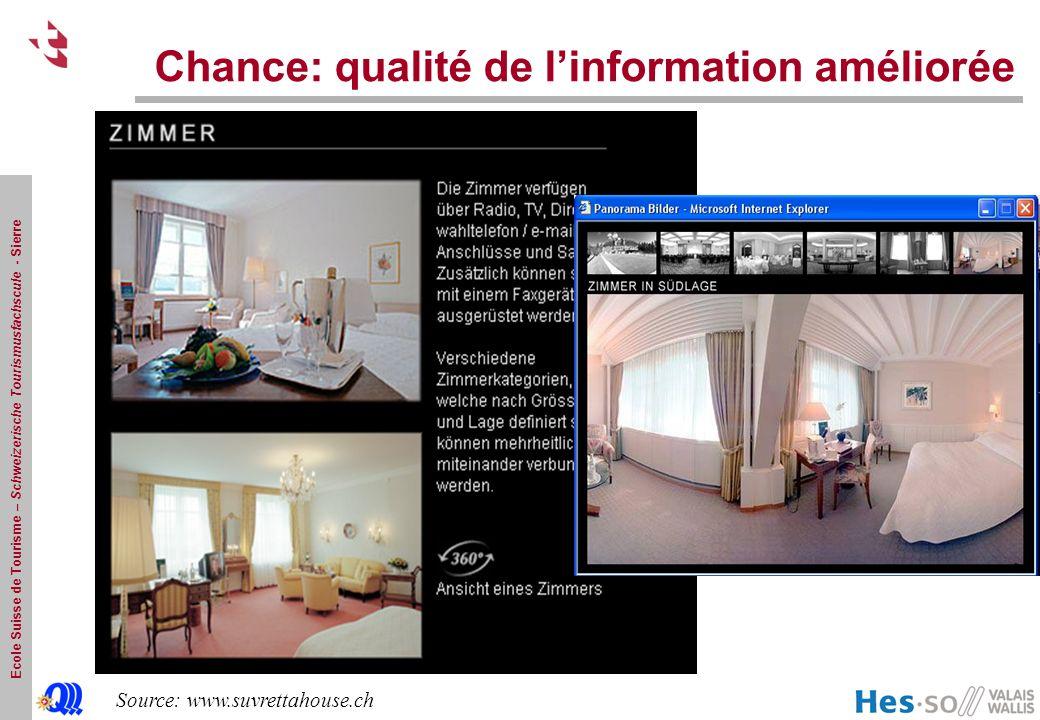 Chance: qualité de l'information améliorée