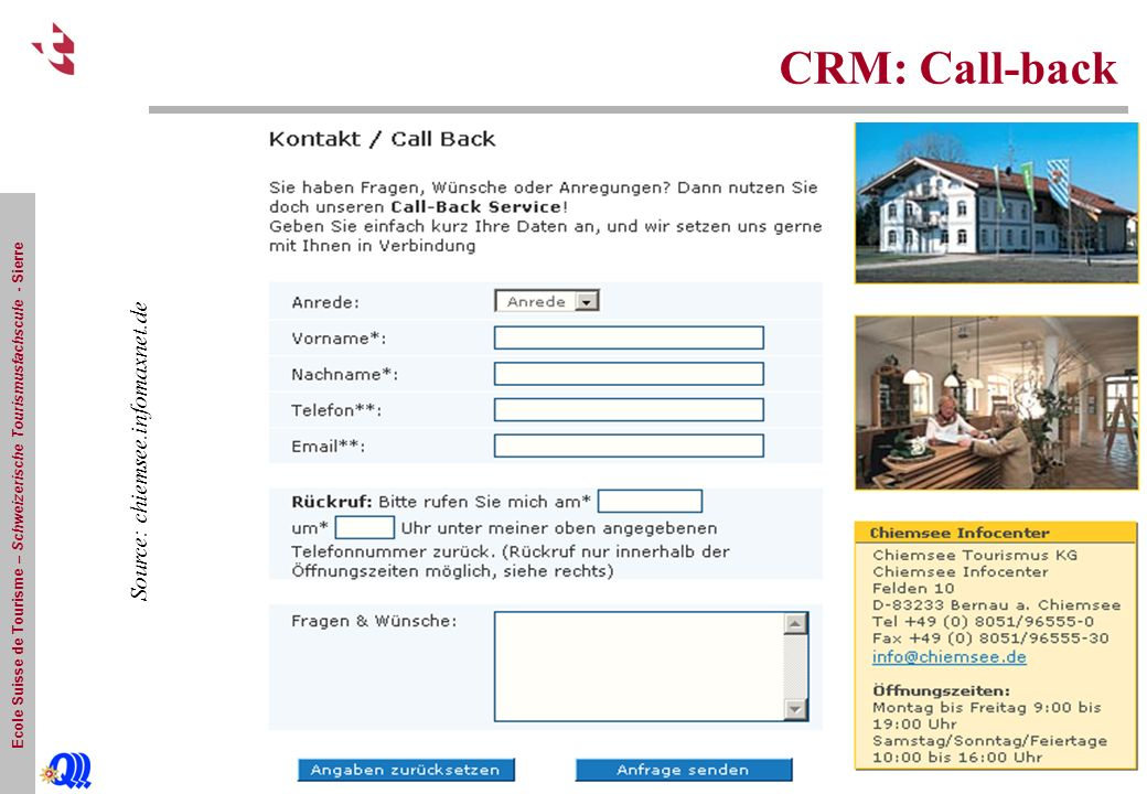 CRM: Call-back Source: chiemsee.infomaxnet.de