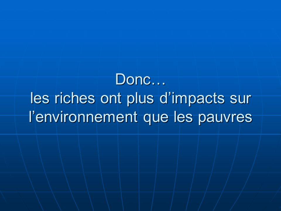 Donc… les riches ont plus d'impacts sur l'environnement que les pauvres