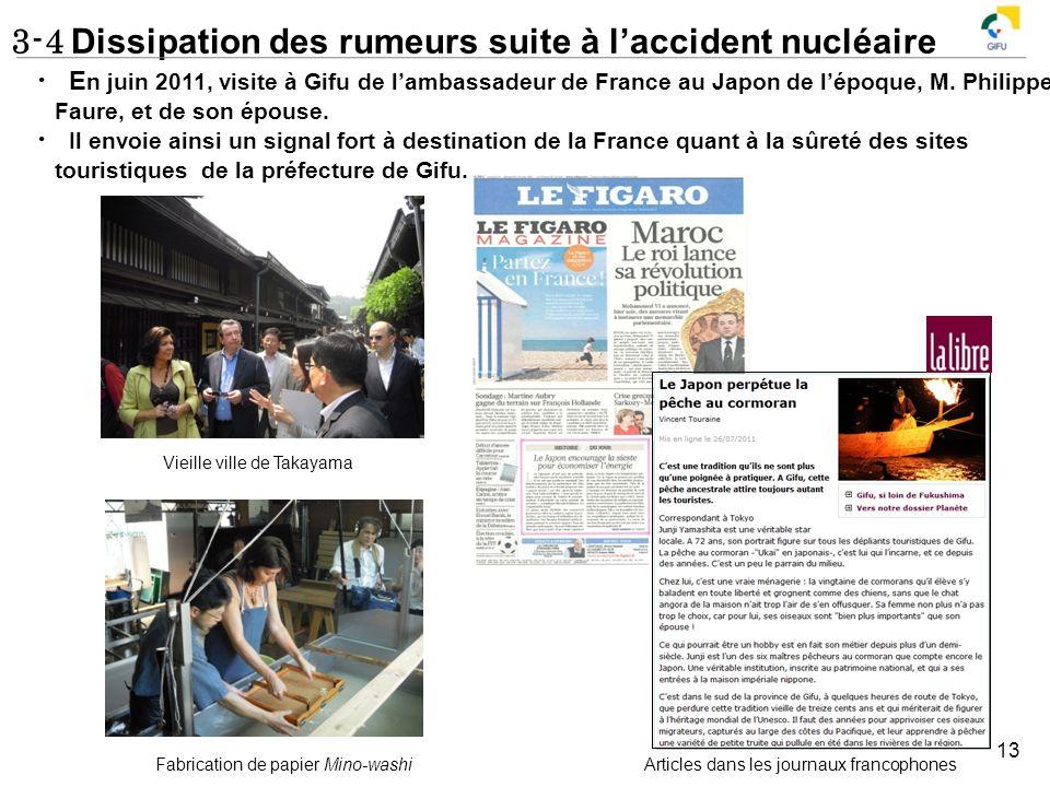 3-4 Dissipation des rumeurs suite à l'accident nucléaire
