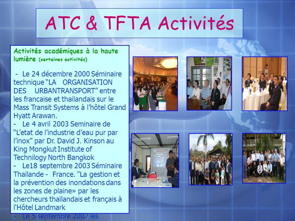 ATC & TFTA Activités Activités académiques à la haute lumière (certaines activités)