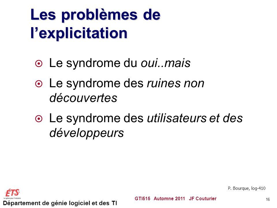 Les problèmes de l'explicitation