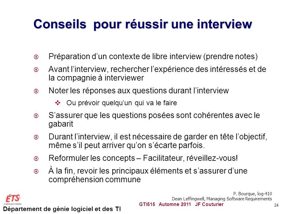 Conseils pour réussir une interview
