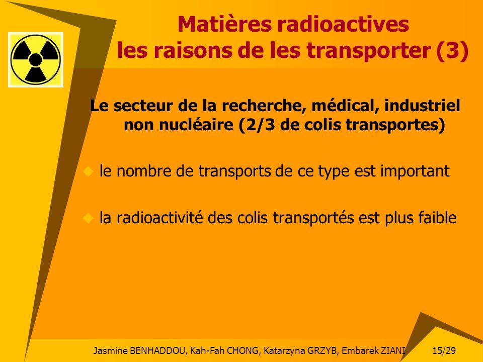 Matières radioactives les raisons de les transporter (3)
