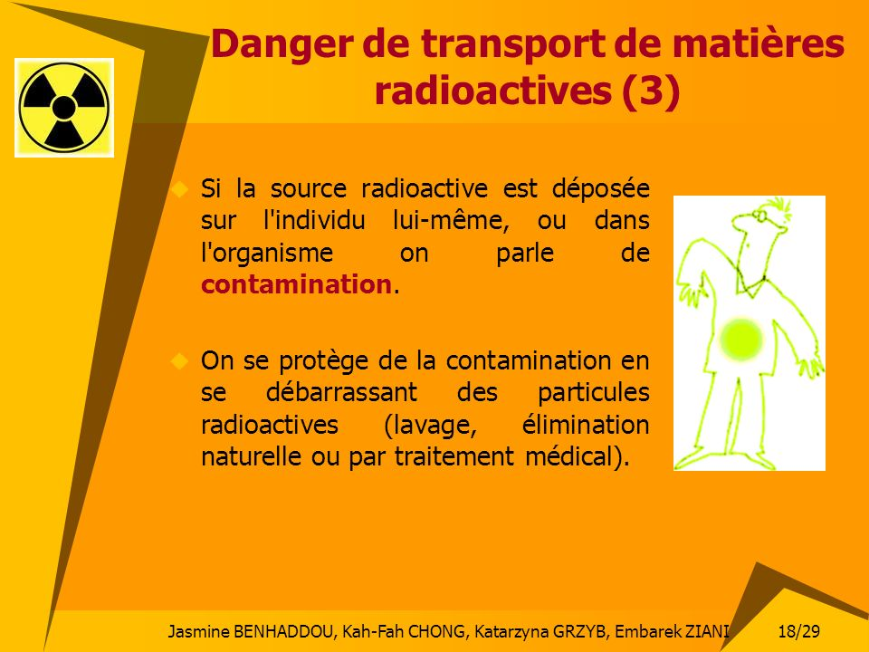 Danger de transport de matières radioactives (3)