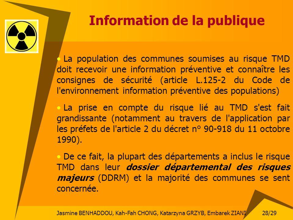 Information de la publique