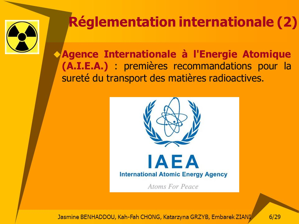 Réglementation internationale (2)