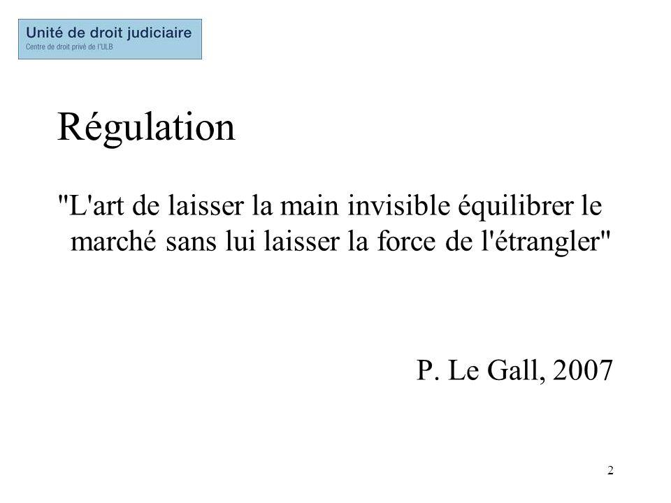 Régulation L art de laisser la main invisible équilibrer le marché sans lui laisser la force de l étrangler