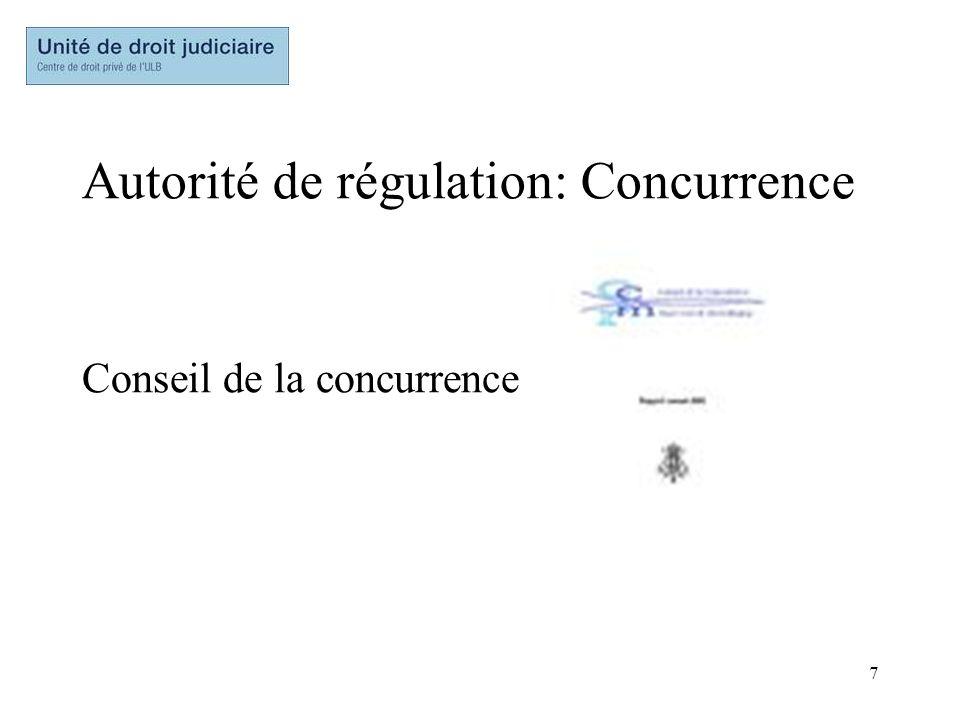 Autorité de régulation: Concurrence