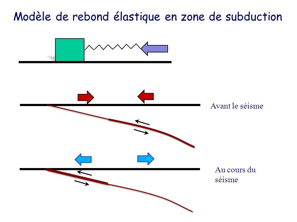 Modèle de rebond élastique en zone de subduction