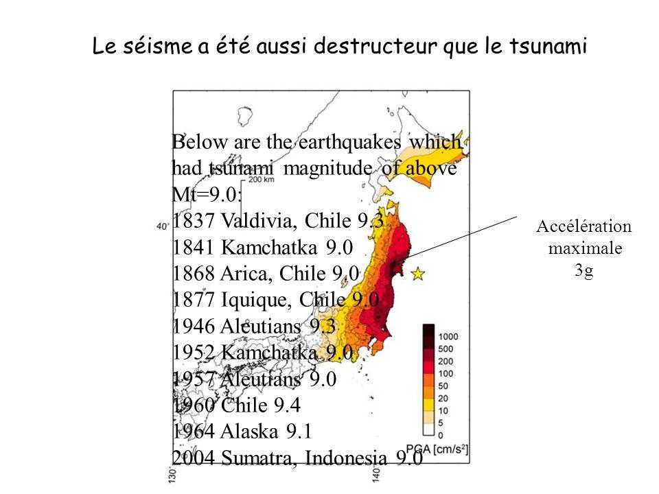 Le séisme a été aussi destructeur que le tsunami