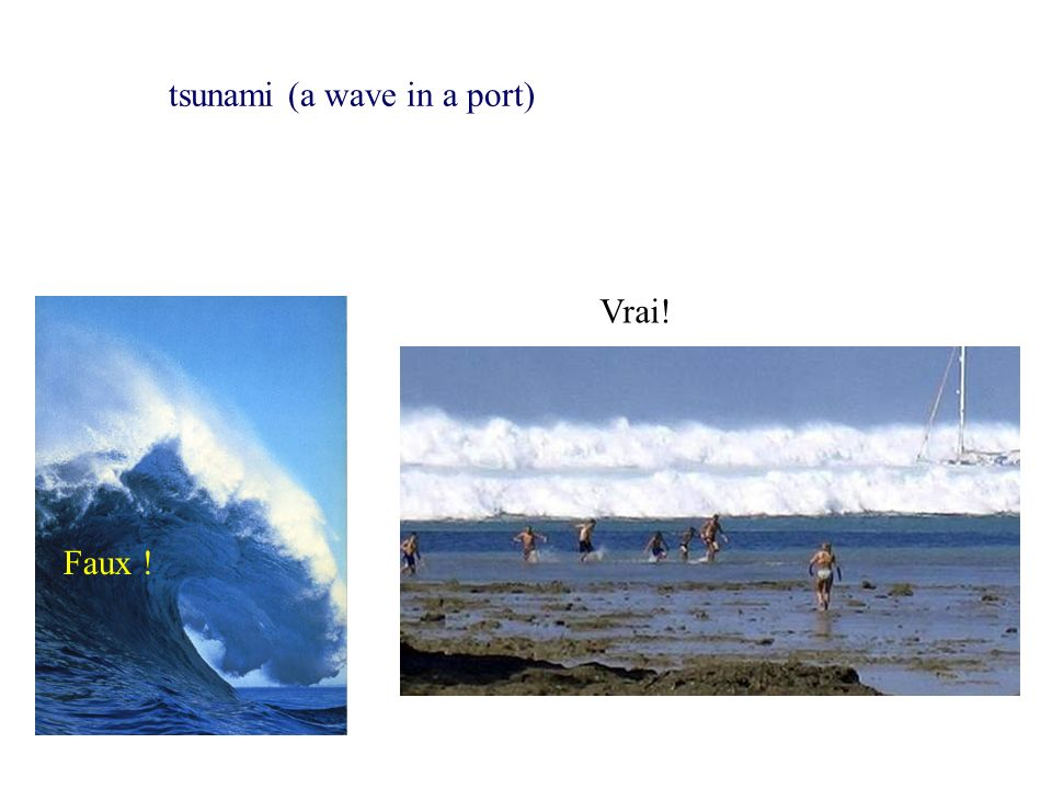 tsunami (a wave in a port)