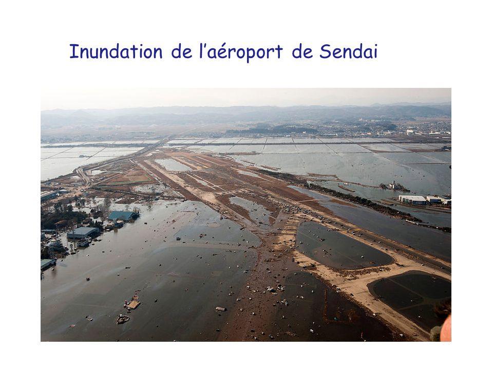 Inundation de l'aéroport de Sendai
