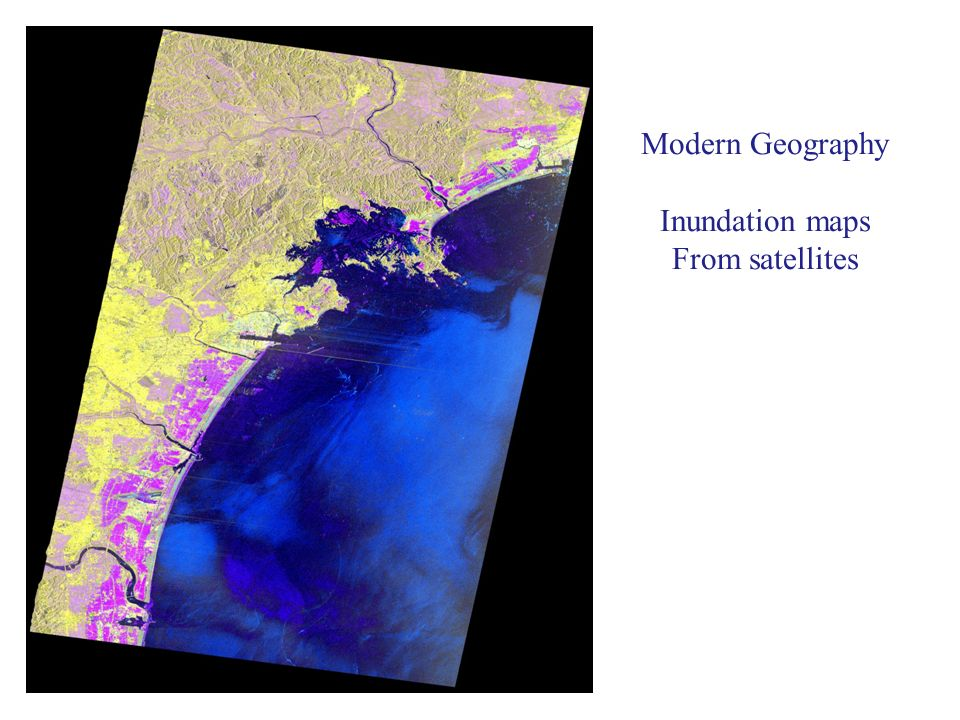 Modern Geography Inundation maps From satellites