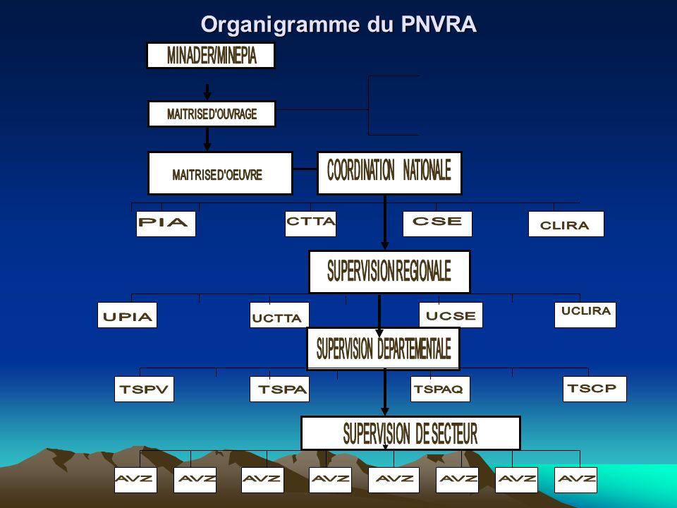 Organigramme du PNVRA MINAGRI UGEAC USE SUPERVISION REGIONALE TSR1