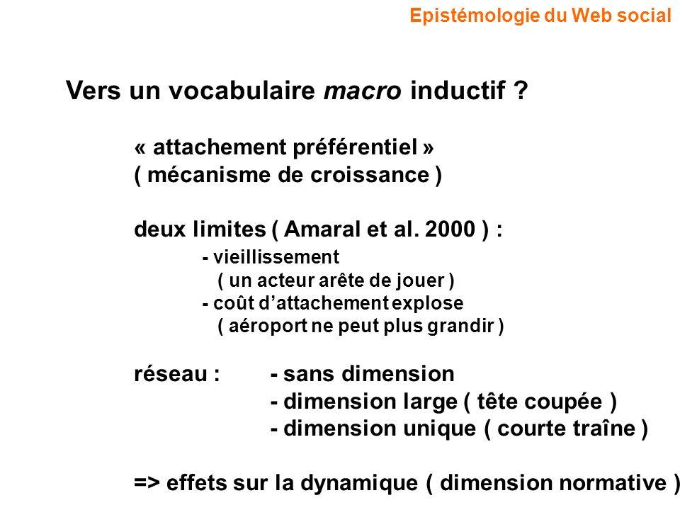 Vers un vocabulaire macro inductif