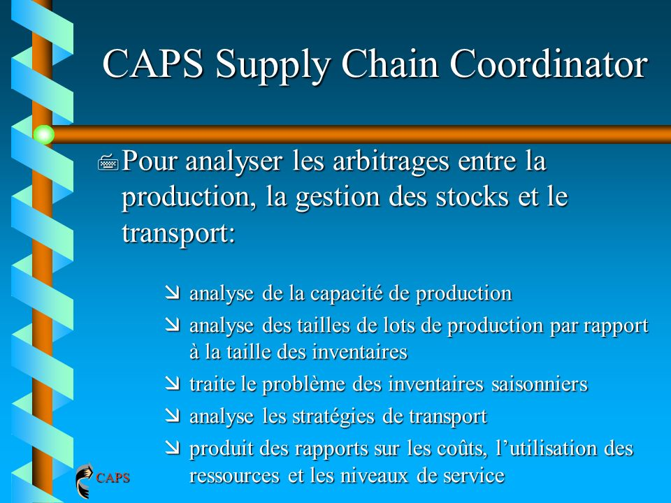 CAPS Supply Chain Coordinator